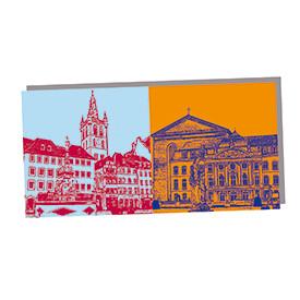 ART-DOMINO® BY SABINE WELZ Trier - St. Gangolf-Hauptmarkt und Basilika + Kurfürstliches Palais