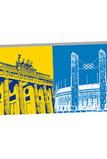 ART-DOMINO® by SABINE WELZ Berlin - Brandenburger Tor und Olympiastadion