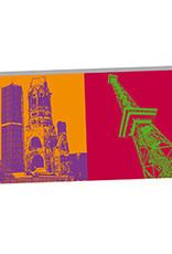 ART-DOMINO® BY SABINE WELZ Berlin - Gedächtniskirche und Funkturm