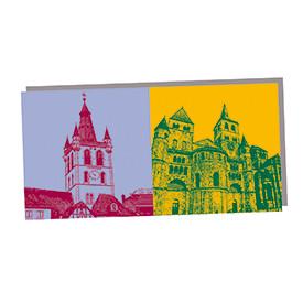 ART-DOMINO® by SABINE WELZ Trier - St. Gandolf Turm und Dom St. Petrus