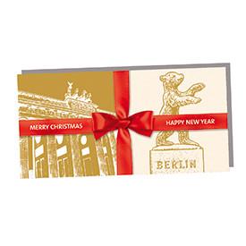 Frohe Weihnachten Berlin.Weihnachts Klappkarte Mit Berlin Motiven