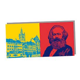 ART-DOMINO® by SABINE WELZ Trier - St. Gandolf-Hauptmarkt und Karl-Marx