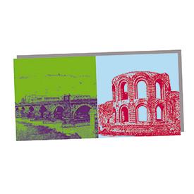 ART-DOMINO® by SABINE WELZ Trier - Römer-Brücke und Kaiserthermen