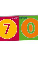 ART-DOMINO® BY SABINE WELZ HAPPY BIRTHDAY - Geburtstagskarte zum 70.