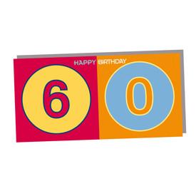 ART-DOMINO® by SABINE WELZ HAPPY BIRTHDAY - Geburtstagskarte zum 60.