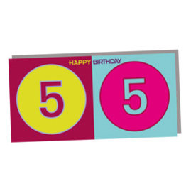 ART-DOMINO® BY SABINE WELZ HAPPY BIRTHDAY FOLDED CARD - 55 YEARS
