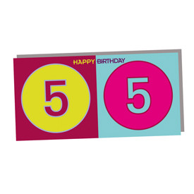 ART-DOMINO® BY SABINE WELZ HAPPY BIRTHDAY - Carte d'anniversaire pour le 55ème anniversaire