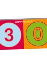 ART-DOMINO® by SABINE WELZ HAPPY BIRTHDAY - Geburtstagskarte zum 30.