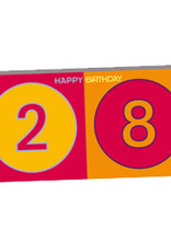 ART-DOMINO® BY SABINE WELZ HAPPY BIRTHDAY - Geburtstagskarte zum 28.