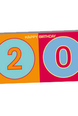 ART-DOMINO® BY SABINE WELZ HAPPY BIRTHDAY - Birthday card for the 20th