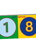 ART-DOMINO® BY SABINE WELZ HAPPY BIRTHDAY - Geburtstagskarte zum 18.