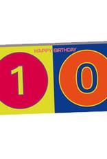 ART-DOMINO® BY SABINE WELZ HAPPY BIRTHDAY - Carte d'anniversaire pour le 10ème anniversaire