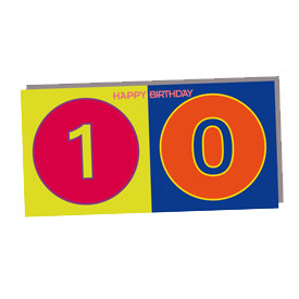 ART-DOMINO® BY SABINE WELZ HAPPY BIRTHDAY - Birthday card for the 10th