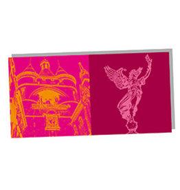 ART-DOMINO® by SABINE WELZ POST CARD - BORDEAUX - 01