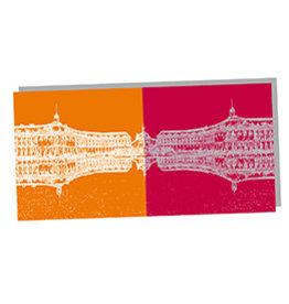 ART-DOMINO® by SABINE WELZ POST CARD - BORDEAUX - 02