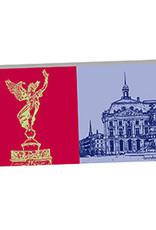 ART-DOMINO® by SABINE WELZ Bordeaux - La victoire brisant ses chaines und Place de la bourse