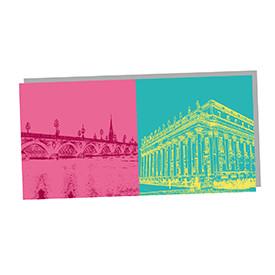 ART-DOMINO® by SABINE WELZ Bordeaux - Pont de pierre und Grand théâtre