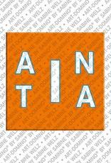 ART-DOMINO® BY SABINE WELZ Anita - Magnet mit dem Vornamen Anita