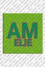 ART-DOMINO® by SABINE WELZ Amelie - Aimant avec le nom Amelie