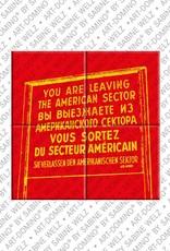 "ART-DOMINO® by SABINE WELZ Berlin - Schild ""Leaving the American Sector"" 2"