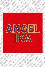 ART-DOMINO® BY SABINE WELZ Angelika - Magnet mit dem Vornamen Angelika