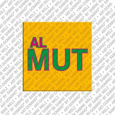 ART-DOMINO® BY SABINE WELZ Almut - Magnet mit dem Vornamen Almut