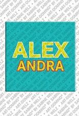 ART-DOMINO® BY SABINE WELZ Alexandra - Magnet mit dem Vornamen Alexandra