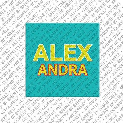 ART-DOMINO® by SABINE WELZ Alexandra - Aimant avec le nom Alexandra