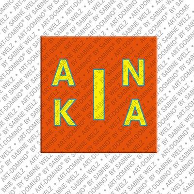 ART-DOMINO® BY SABINE WELZ Anika - Magnet mit dem Vornamen Anika