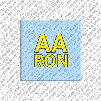 ART-DOMINO® by SABINE WELZ Aaron - Aimant avec le nom Aaron