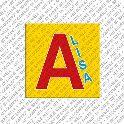 ART-DOMINO® by SABINE WELZ Alisa - Aimant avec le nom Alisa
