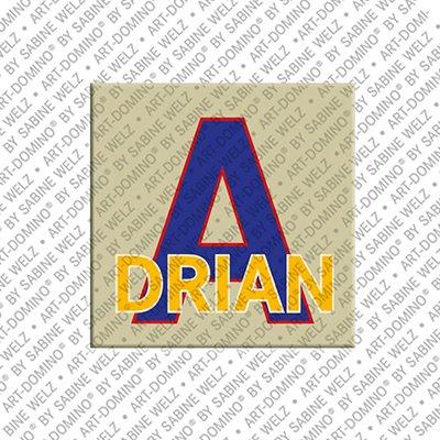 ART-DOMINO® by SABINE WELZ Adrian - Aimant avec le nom Adrian