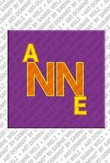 ART-DOMINO® BY SABINE WELZ Anne - Magnet mit dem Vornamen Anne