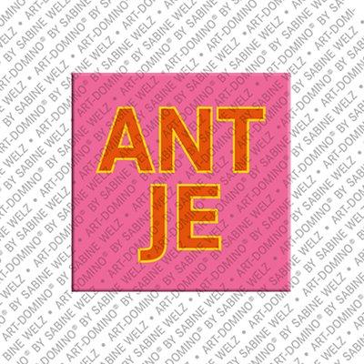 ART-DOMINO® BY SABINE WELZ Antje - Magnet mit dem Vornamen Antje