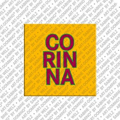 ART-DOMINO® by SABINE WELZ Corinna - Magnet mit dem Vornamen Corinna