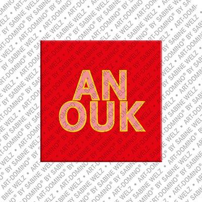 ART-DOMINO® by SABINE WELZ Anouk - Magnet mit dem Vornamen Anouk