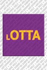 ART-DOMINO® by SABINE WELZ Lotta - Magnet mit dem Vornamen Lotta