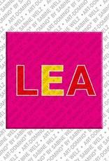 ART-DOMINO® by SABINE WELZ Lea - Magnet mit dem Vornamen Lea