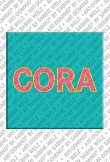 ART-DOMINO® by SABINE WELZ Cora - Magnet mit dem Vornamen Cora
