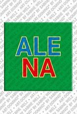 ART-DOMINO® by SABINE WELZ Alena - Aimant avec le nom Alena