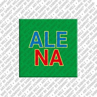 ART-DOMINO® BY SABINE WELZ Alena - Magnet mit dem Vornamen Alena