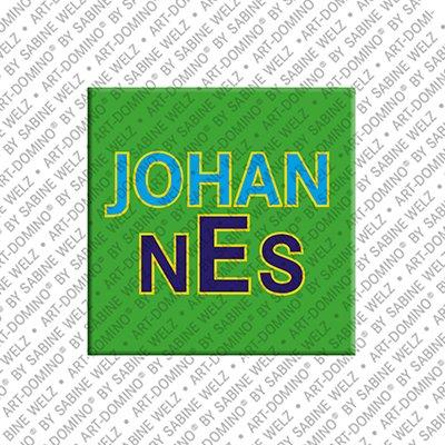 ART-DOMINO® by SABINE WELZ Johannes - Magnet mit dem Vornamen Johannes