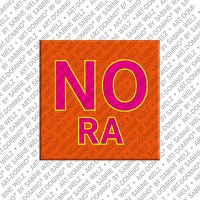 ART-DOMINO® by SABINE WELZ Nora - Magnet mit dem Vornamen Nora