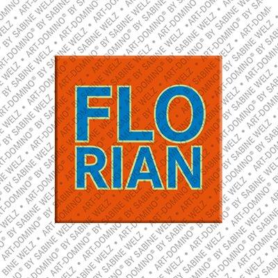 ART-DOMINO® by SABINE WELZ Florian - Magnet mit dem Vornamen Florian