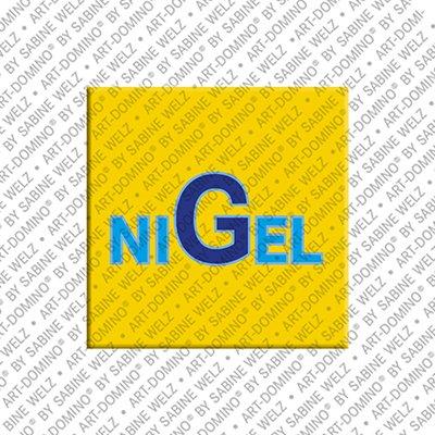 ART-DOMINO® by SABINE WELZ Nigel - Magnet mit dem Vornamen Nigel