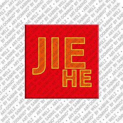 ART-DOMINO® by SABINE WELZ Jiehe - Magnet mit dem Vornamen Jiehe