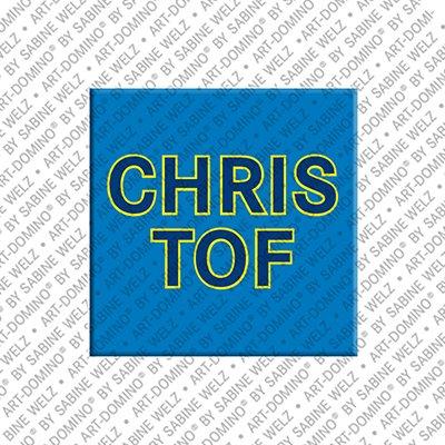 ART-DOMINO® by SABINE WELZ Christof - Magnet mit dem Vornamen Christof