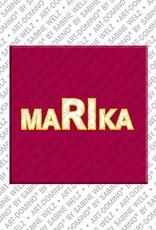 ART-DOMINO® by SABINE WELZ Marika - Magnet mit dem Vornamen Marika