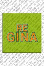 ART-DOMINO® by SABINE WELZ Regina - Magnet mit dem Vornamen Regina