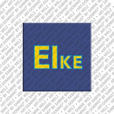 ART-DOMINO® by SABINE WELZ Eike - Magnet mit dem Vornamen Eike